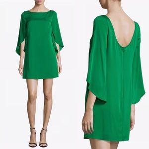 Milly Green Stretch Silk Shift Dress